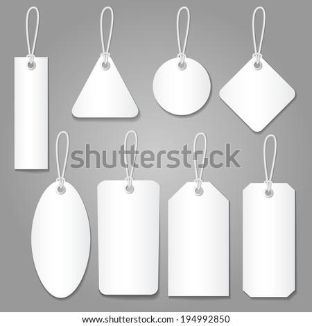 blank labels template price tags set vector - stock vector