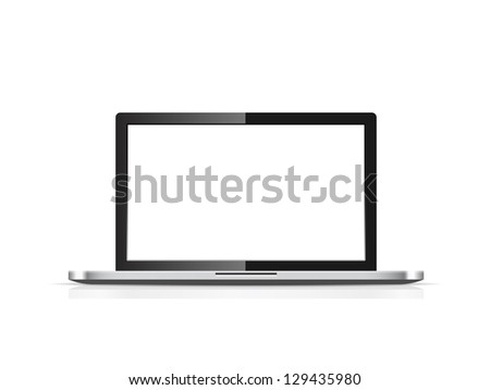 Blank laptop vector