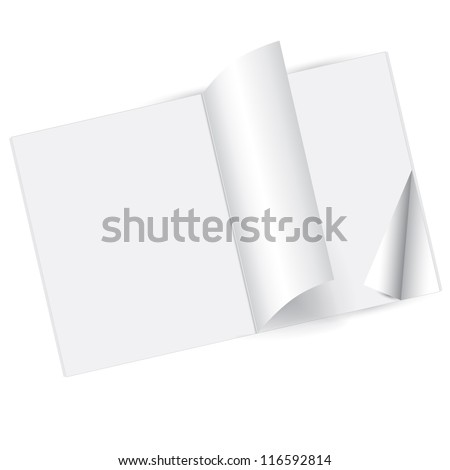 Blank magazine double-page spread - stock vector