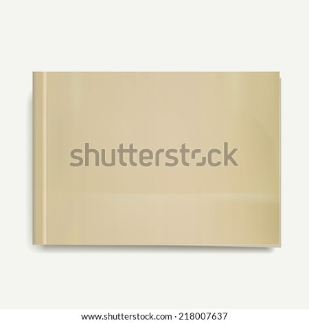 blank magazine or book templates on white background