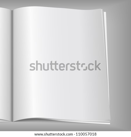 Blank magazine page, vector eps10 illustration - stock vector