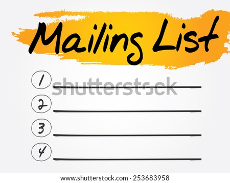 Blank Mailing List, vector concept background - stock vector