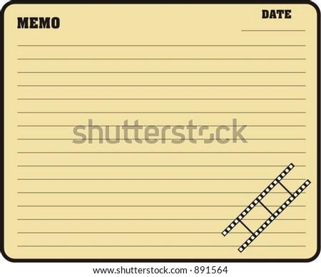 Blank Memo Stock Vector 891564 - Shutterstock