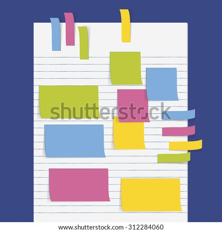 Vector Open Notebook Memo Papers Stock Vector 55147876 - Shutterstock