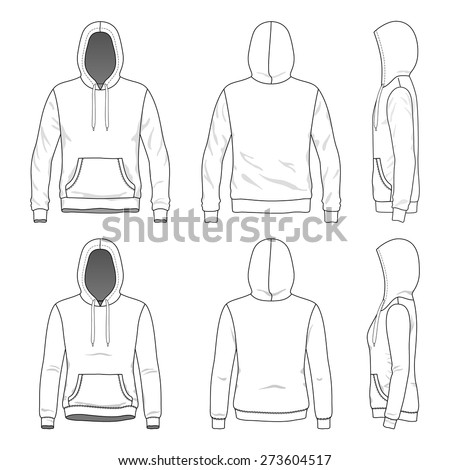 Hoodie Template Stock Images, Royalty-Free Images & Vectors ...
