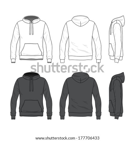 Front Black Design Hoodie Template Stock Images, Royalty ...