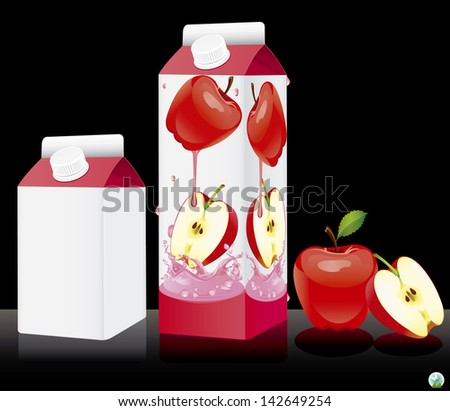 Blank milk or juice pack. Vector illuctration - stock vector
