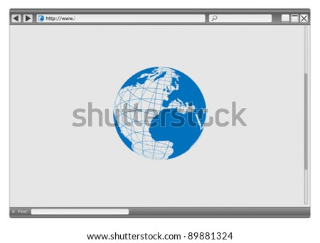 Blank Modern Internet Web Browser With Copyspace - stock vector