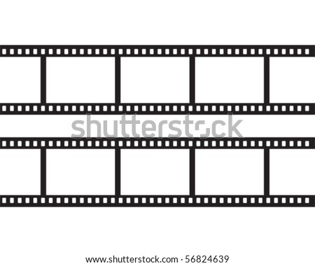 Blank negative film - stock vector