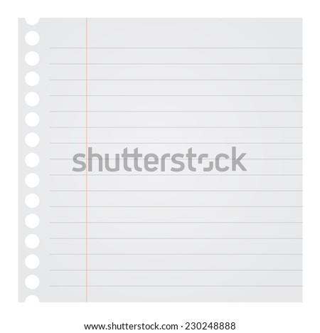 Blank Note Paper Vector Illustration  - stock vector