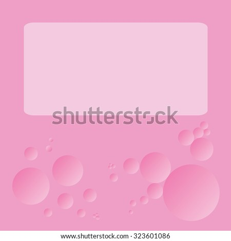 blank note pink bubble background presentation stock vector