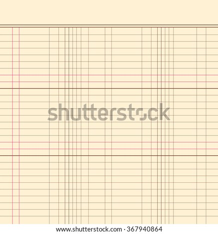 Blank notebook paper isolated on background, vector illustration - stock vector