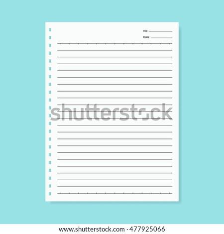 blank notebook paper vector stock vector 477925066 shutterstock