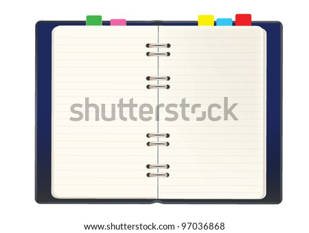 Blank notebook vector - stock vector