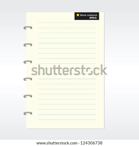 Blank notebook vector. EPS10 - stock vector