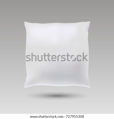 Blank of square pillow for your design. mock up pillow. Vector