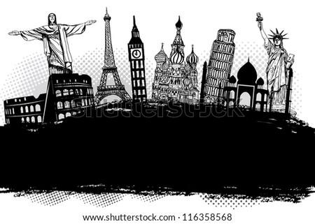 Blank of Travel Designs illustration Vector - stock vector