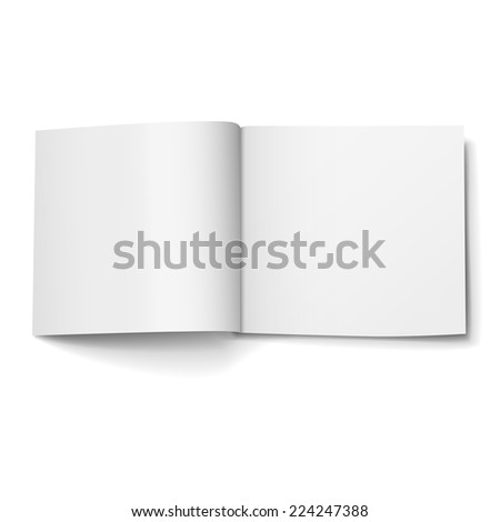 blank open magazine isolated on white background - stock vector