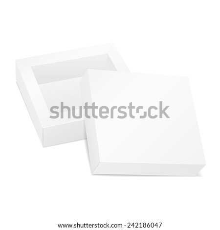 blank opened cardboard box isolated on white background