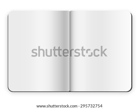 Blank opened copybook template - stock vector