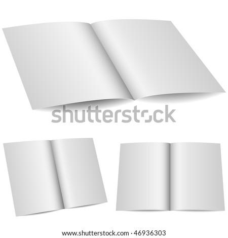Blank opened folder in 3 variants isolated on white background. - stock vector