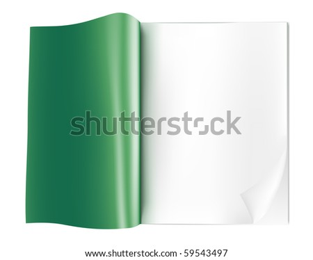 blank opened magazine - stock vector