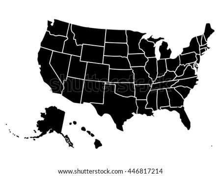Usa Map Outline Vector Blank Similar Usa Map ...