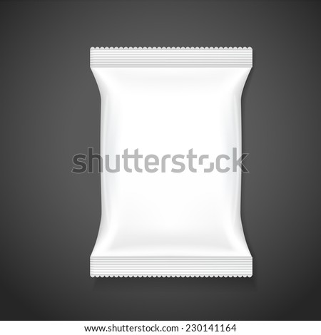 blank package template isolated on black background - stock vector