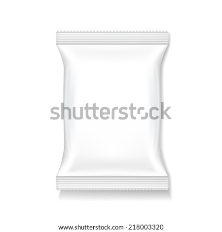 blank package template isolated on white background