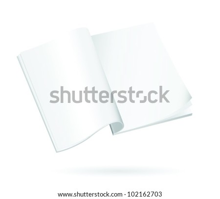 Blank pages of an open book related to studies and learning
