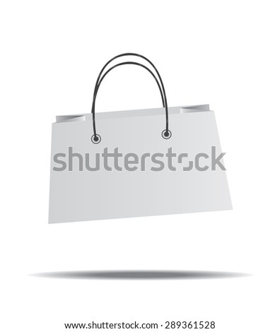 blank paper bag with white background