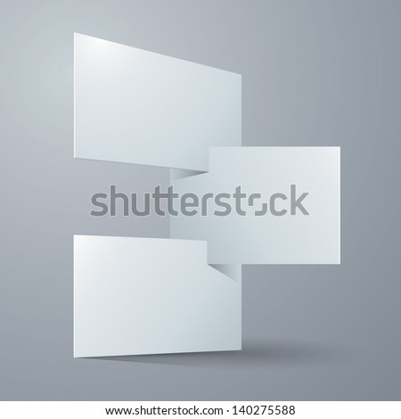 Blank paper cards. Paper background Vector. - stock vector