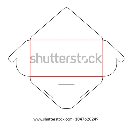 Blank Paper Envelope Die Cut Template Stock Vector 1047628249