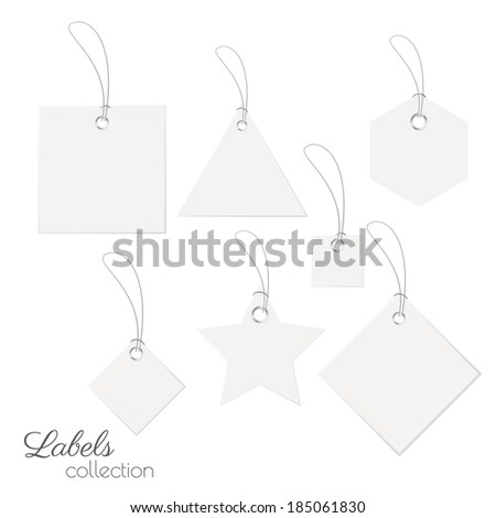 Blank paper labels. Vector eps10
