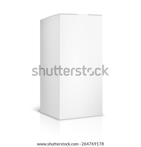 Blank paper or cardboard box template on white background. Container and packaging. Vector illustration - stock vector