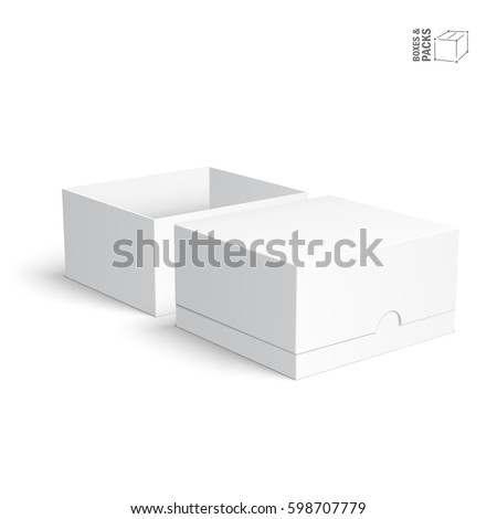 Blank paper cardboard boxes templates on stock vector royalty free blank paper or cardboard boxes templates on white background vector illustration maxwellsz