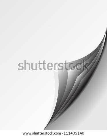blank paper sheets Vector - stock vector
