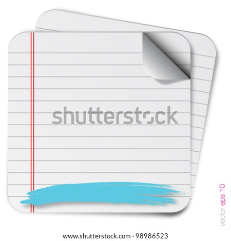 blank paper with splash vector format