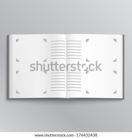 Blank photo album vector illustration - stock vector