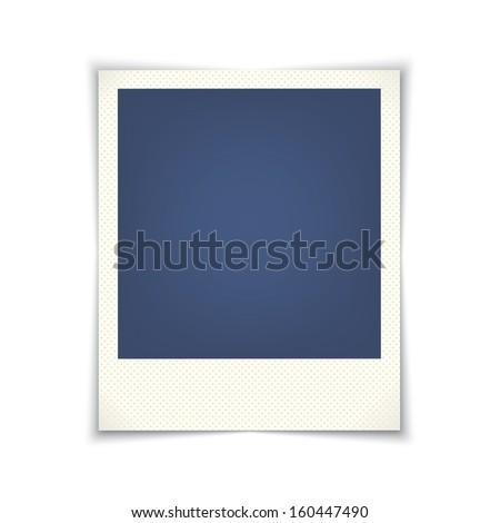 blank photo frame. vector template for design. eps10 - stock vector