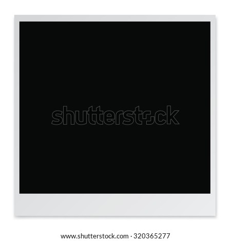 Blank Photo Paper isolated on white background