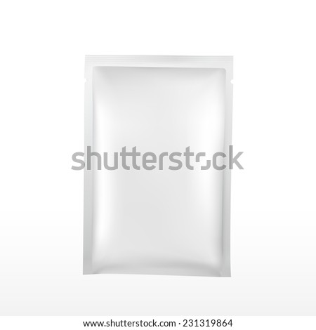 blank plastic package for cosmetics isolated on white background  - stock vector
