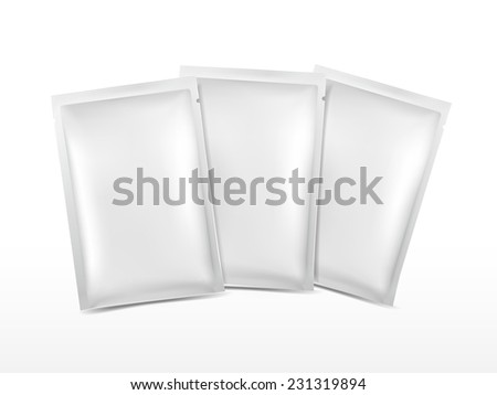 blank plastic package set for cosmetics isolated on white  - stock vector