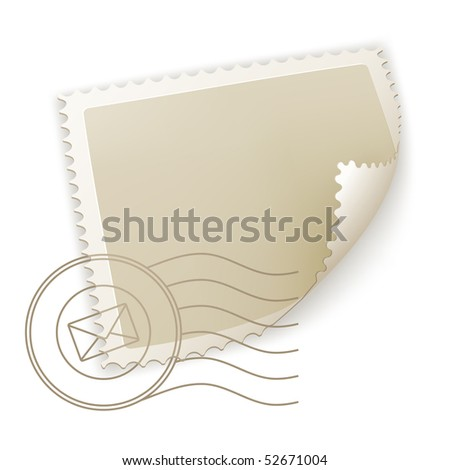 Blank Postage Stamp, vector - stock vector