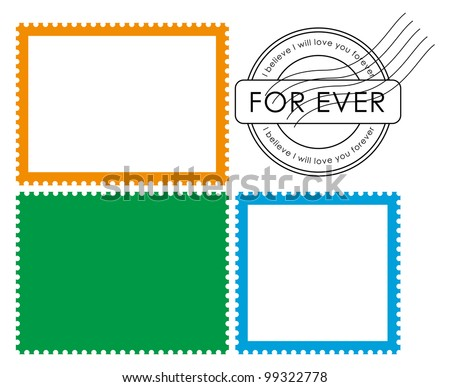 Blank postage stamp-Vector - stock vector