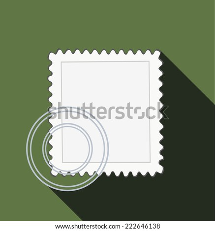 Blank postage stamps. - stock vector