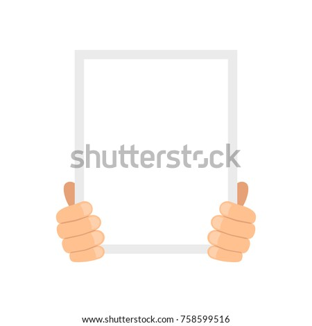 blank poster his hands template stock vector royalty free