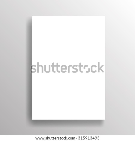 Blank Poster Template on Gray Wall . Vector Illustration .