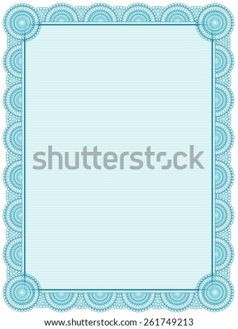 blank printable certificate frame template