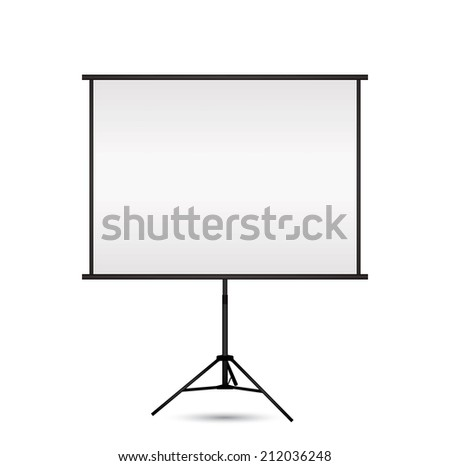 Blank projection screen with copy-space. Vector EPS10. - stock vector